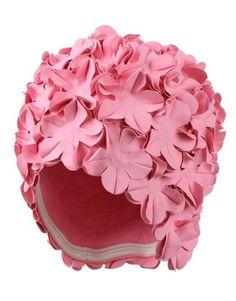 Pink Petal Swimming Hat by Fashy Ladies Swimming Hat Old fashioned Style Bathing Cap Fashy