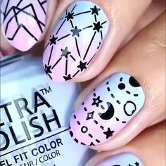 Nail art Christmas - the festive spirit on the nails. Over 70 creative ideas and tutorials - My Nails Easter Nail Designs, Gel Nail Designs, Spring Nail Colors, Spring Nails, Pastel Colors, Summer Nails, Nail Polish Trends, Nail Trends, Unicorn Nails Designs