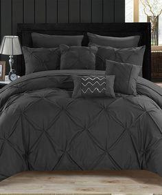 Another great find on #zulily! Black Maurizio Eight-Piece Bedding Set #zulilyfinds