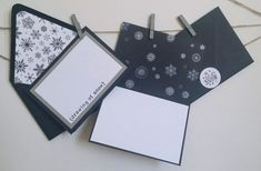 Snowflake Holiday Card Set  Set of 10 by courtlyniverson on Etsy