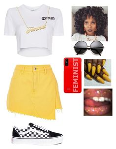 """Spring "" by miraclemitchell on Polyvore featuring River Island, Off-White and Vans"
