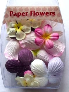 WOODWARE PAPER FLOWERS - SPRING BLOSSOMS      Beautiful pack of Spring Blossoms coloured co-ordinated paper flowers in assorted sizes and shades to decorate your creations APPROX 14 FLOWERS APPROX 14 FLOWERS.