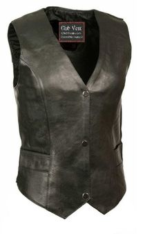 Womens Classic Premium Naked Cowhide Leather Motorcycle Vest