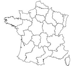 Contour map of the regions