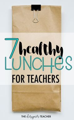 7 Healthy Lunches for Teachers — The Designer Teacher is part of Healthy lunch - 7 healthy lunches perfect for busy teachers trying to meal prep on Sundays! Nutritious Snacks, Healthy Lunches, Healthy Recipes, Rock Recipes, Detox Recipes, Lunch Recipes, Healthy Foods, Salad Recipes, Dinner Recipes