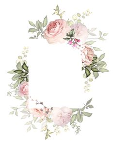 frames and borders Flower Backgrounds, Flower Wallpaper, Wallpaper Backgrounds, Iphone Wallpaper, Wallpapers, Frame Floral, Flower Frame, Watercolor Flowers, Watercolor Art
