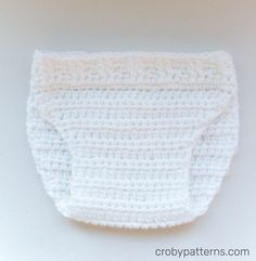 Free Crochet Pattern - Little Bunny Diaper Cover by Croby Patterns