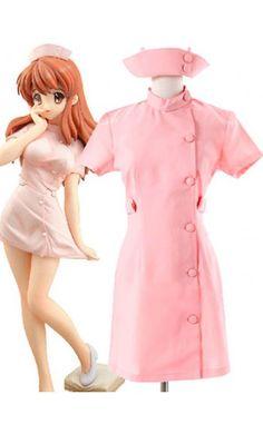Haruhi Suzumiya Mikuru Asahina's Pink Nurse Halloween Costumes