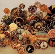 Gorgeous photo of antique buttons.  It's on the cover of one of the books I own about button collecting.