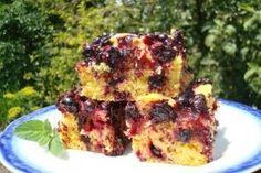 Prajitura pufoasa cu fructe (afine) - Culinar.ro Sweet Desserts, French Toast, Vegetarian, Sweets, Chicken, Meat, Breakfast, Dinners, House