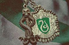 Slytherin necklace.