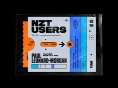 Paul Leonard– Morgan – Nzt Users designed by Rhox. Graphic Design Posters, Graphic Design Typography, Graphic Design Illustration, Graphic Design Inspiration, Graphic Design Layouts, Web Design, Layout Design, Design Art, Packaging Design