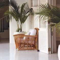 I love rattan and cane furniture as well a a combination of British Colonial-Safari-West Indies style. Style Tropical, Tropical Decor, Tropical Houses, Tropical Furniture, Cane Furniture, Rattan Furniture, Furniture Styles, Furniture Dolly, West Indies Decor