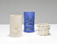'Healing' by Kirsty Lloyd, 3rd year work, by interrupting 3D Printed ceramics.