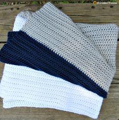 A Creative Princess: Simple Crochet Color Block Baby Blanket