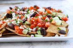 Easy Greek Nachos - I Heart Vegetables