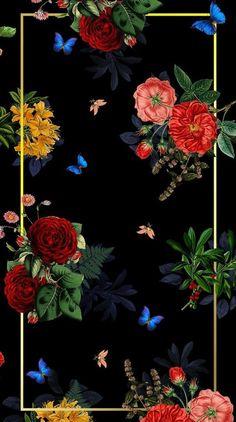 a246d2fb7423  Phone Wallpapers  Duvar Kağıtları  Flowers  Black Wallpapers  Phone  Wallpapers  Duvar