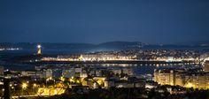 Anochece en Coruña