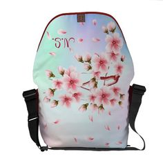 Beautiful  Sakura Messenger Bag. Customize this item to fit your wants and needs.