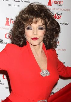 Joan Collins Red
