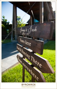 With so many different venues to choose from at The Ranch, this is such a good idea to tell guests where is where.