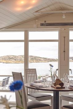 Dinner table views from Salt & Sill | The ultimate West Sweden road trip itinerary. What to see and do on the picturesque islands of Marstrand, Orust, and Tjörn