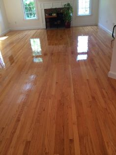 Central Mass Hardwood can also do quick recoating jobs for your hardwood floors! We applied 3 layers of water based poly in this home in Wellesley