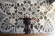 "Nespoon creates ""urban jewelry:"" large-scale lace-like street art around the world."