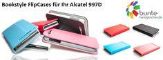 alcatel 997d bookstyle flip cases - now available in various colors under #caseroxx on ebay & amazon and under www.bunte-handytaschen.de