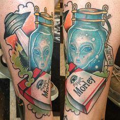 alien ufo tattoo