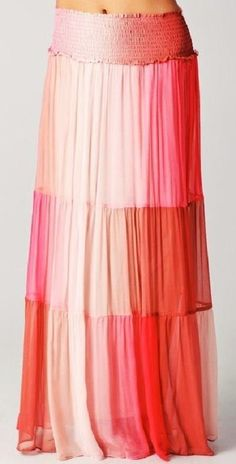 $433 Gorgeous OF TWO MINDS Sala Long Silk Skirt, sz XS, Cherry, sz XS, NEW #Oftwominds #Maxi