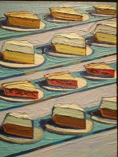 Wayne Thiebaud 'Refrigerator Pies', 1962, Milwaukee Museum of Art, Milwaukee, Wisconsin