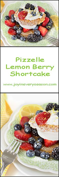 Pizzelle Lemon Berry Shortcake