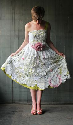 lace...DIY Handmade, Vintage Doily Wedding Dress