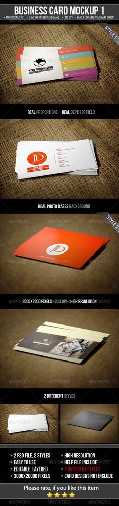2 Realistic Business Card MockUps — Photoshop PSD #mockup #business card • Available here → https://graphicriver.net/item/2-realistic-business-card-mockups/4807343?ref=pxcr