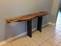 Wood Steel, Wood Projects, Entryway Tables, Furniture, Home Decor, Wooden Projects, Homemade Home Decor, Home Furnishings, Woodworking