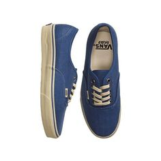 Vans Authentic Hemp Shoe (160 RON) ❤ liked on Polyvore featuring shoes, sneakers, vans, sapatos, waffle shoes, vans footwear, vans sneakers, vans trainers and hemp sneakers