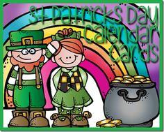 St. Patricks Day Calendar Cards
