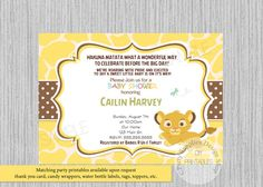 Image result for free printable lion king baby shower invitations lion king simba baby shower invitations simba baby shower invitations baby shower invitations print your own printable invite digital filmwisefo Choice Image