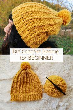 3bfcf2a817c04 How to Crochet easy Beanie hat for BEGINNER