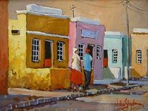 Bo Kaap Willie Strydom South African Artists, Painting Gallery, City Art, House Painting, Beautiful Landscapes, House Colors, Mosaic, History, Cape Town
