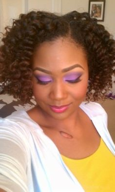 Flat twist out! Love this style. 8-10 flat twists and you have this beautiful style.