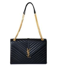 730d65cb5ec Classic monogram large shoulder bag   Saint Laurent   MATCHESFASHION.COM  Quilted Shoulder Bags,