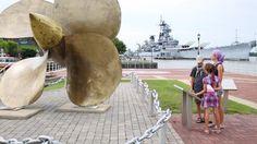 CAMDEN, USA - SEPTEMBER 04, 2014: Battleship Museum USS New Jersey ...