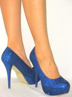Stiletto Heel Sparkle Glitter* Platform Pump | eBay