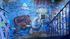 Robots #Brighton #streetart #Brightongraffiti #paintedcity