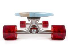 Handmade Beach Hut Blue Nudie Cruiser Skateboard