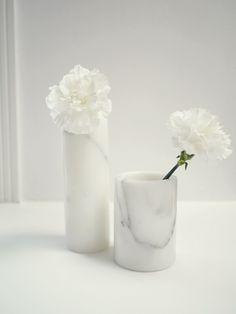 Marble vases via Camilla Pihl