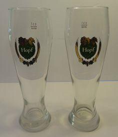 2 Hopf German .5 liter beer glasses FREE SHIPPING