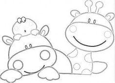girafa + hipopótamo